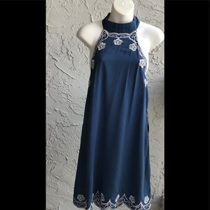 NWT LuLus Back Out Dress W/Embroidery